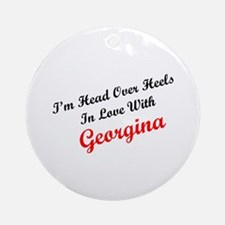 In Love with Georgina Ornament (Round)