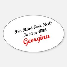 In Love with Georgina Oval Decal