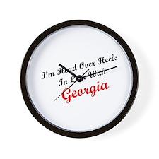 In Love with Georgia Wall Clock