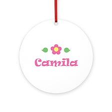 """Pink Daisy - """"Camila"""" Ornament (Round)"""