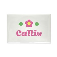 "Pink Daisy - ""Callie"" Rectangle Magnet"