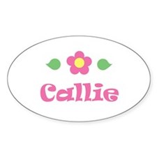 "Pink Daisy - ""Callie"" Oval Decal"