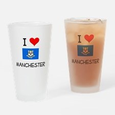 I Love Manchester Connecticut Drinking Glass