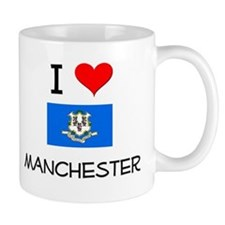 I Love Manchester Connecticut Mugs