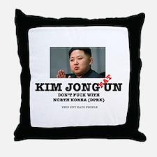 KIM JOHN FAT UN - DPRK Throw Pillow