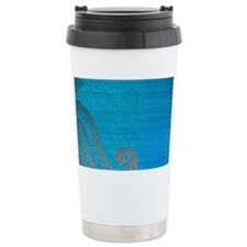 Blue paisly silk Travel Mug