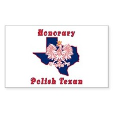 Honorary Polish Texan Rectangle Decal