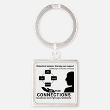 DBT Peer Connections Square Keychain