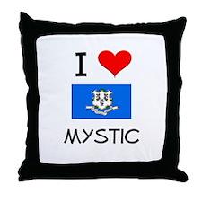 I Love Mystic Connecticut Throw Pillow