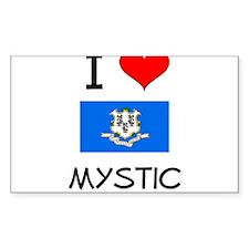 I Love Mystic Connecticut Decal