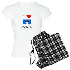 I Love Mystic Connecticut Pajamas