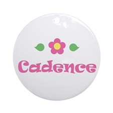 "Pink Daisy - ""Cadence"" Ornament (Round)"
