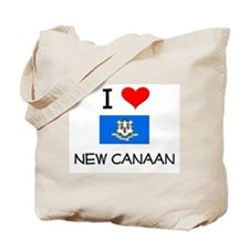 I Love New Canaan Connecticut Tote Bag