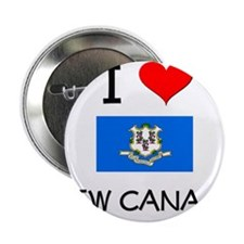 """I Love New Canaan Connecticut 2.25"""" Button"""