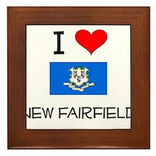 I Love New Fairfield Connecticut Framed Tile