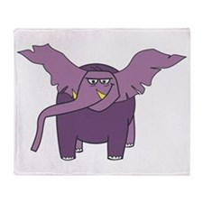 Purple Elephant Throw Blanket