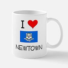 I Love Newtown Connecticut Mugs