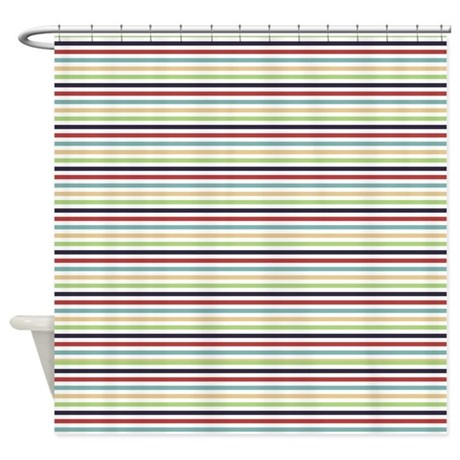 Multi Color Stripes Shower Curtain By Zenchic