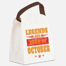Legends Are Born In October Canvas Lunch Bag
