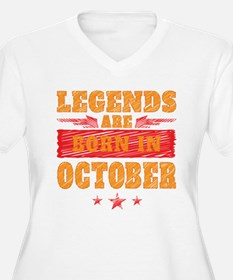 Legends Are Born In October Plus Size T-Shirt
