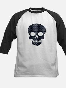 Skull Blue And White Stars Baseball Jersey