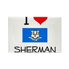 I Love Sherman Connecticut Magnets