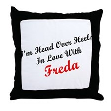 In Love with Freda Throw Pillow