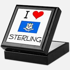 I Love Sterling Connecticut Keepsake Box
