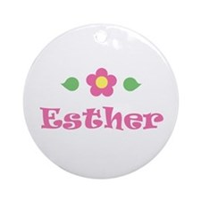 "Pink Daisy - ""Esther"" Ornament (Round)"
