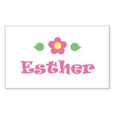 """Pink Daisy - """"Esther"""" Rectangle Decal"""