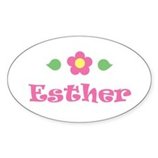 """Pink Daisy - """"Esther"""" Oval Decal"""