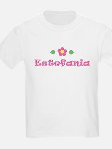 """Pink Daisy - """"Estefania"""" Kids T-Shirt"""