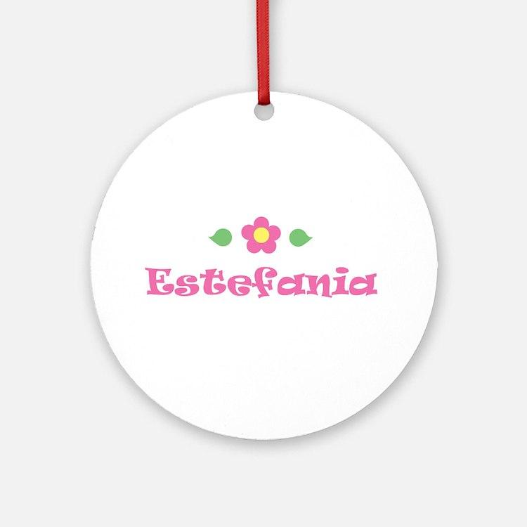 "Pink Daisy - ""Estefania"" Ornament (Round)"