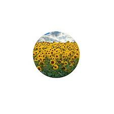 Sunflower Field shwr Mini Button