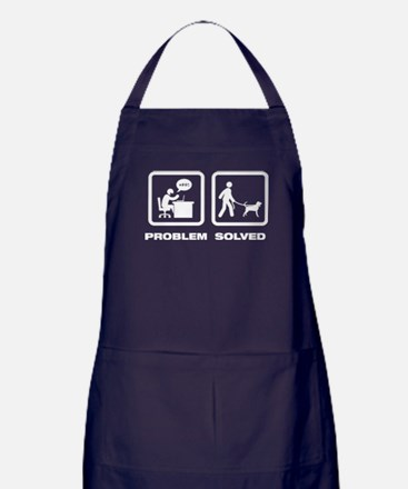 Black and Tan Coonhound Apron (dark)