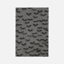 Bats On Gray Rectangle Magnet