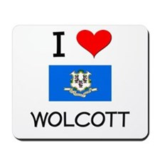 I Love Wolcott Connecticut Mousepad