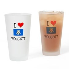 I Love Wolcott Connecticut Drinking Glass