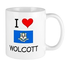 I Love Wolcott Connecticut Mugs