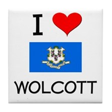 I Love Wolcott Connecticut Tile Coaster
