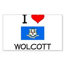 I Love Wolcott Connecticut Decal
