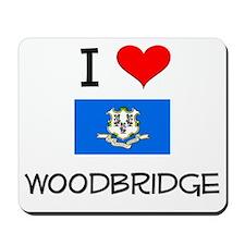 I Love Woodbridge Connecticut Mousepad