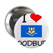 "I Love Woodbury Connecticut 2.25"" Button"