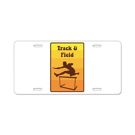 track and field aluminum license plate by hopscotch1. Black Bedroom Furniture Sets. Home Design Ideas