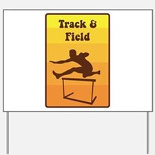 Track and Field Yard Sign