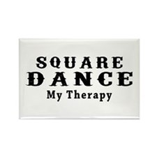Square Dance My Therapy Rectangle Magnet