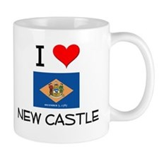 I Love NEW CASTLE Delaware Mugs
