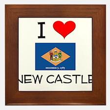 I Love NEW CASTLE Delaware Framed Tile
