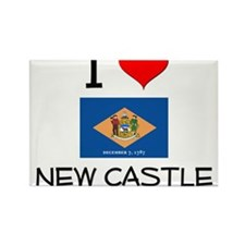 I Love NEW CASTLE Delaware Magnets