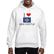 I Love NEW CASTLE Delaware Hoodie